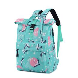 Mochila coreana para laptop online-Nuevas mochilas escolares de moda para adolescentes varones hombres Laptop BackBack Japón y estilo coreano Bolsas escolares de impresión Bolsas de viaje ocasionales
