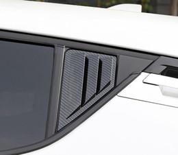2019 mitsubishi gear Car Styling 2 PCS ABS En Plastique Fenêtre Arrière Triangle Volets Couverture Couverture Pour Toyota C-HR CHR 2016 2017 2018 2019