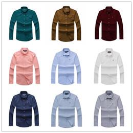 Atacado 2019 novo outono e inverno dos homens de manga longa 100% camisa de algodão dos homens sem bolso casual moda camisa social roupas de marca cheap wholesale clothing single de Fornecedores de roupa por atacado única