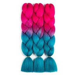 capelli di intreccio di fibre di kanekalon Sconti Sintetico Ombre Jumbo intrecciare i capelli in fibra di kanekalon estensione dei capelli per la scatola Twist intrecciare con 10pcs decorazione gratuita Dreadlock