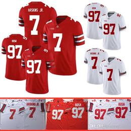 camisetas de fútbol del estado de ohio Rebajas Bosa Ohio State Buckeyes NCAA Football 97 jerseys de calidad Nick Bosa 7 Dwayne Haskins Jr Jersey Gran