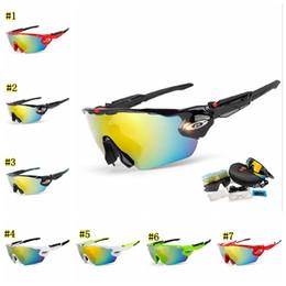 2019 scatola di biciclette Ciclismo Occhiali da sole 5 lenti occhiali da sole polarizzati per uomo donna gafas sport bicicletta da corsa occhiali da uomo con scatola MMA1665 sconti scatola di biciclette