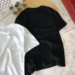2019 chemise en gros de cerise T-shirt pour femme Nouvelle arrivée été mode impression de luxe de motif de fleurs de cerisier avec deux concepteur de couleur Top Tees S-L gros 1111 chemise en gros de cerise pas cher