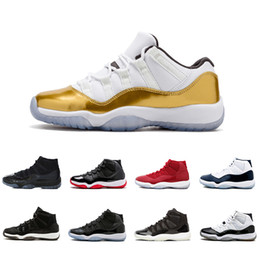 Botas de corrida 46 on-line-Nike Air Jordan 11 2019 Homens tênis de basquete J11 XI Baixa Alta Banda Esmeralda 3D 3D colorido Botas Tênis Esportivos de corrida humana sapatos de corrida tamanho 40-46