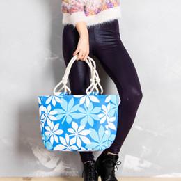 Grande lona bolsas zipper on-line-Mulheres Floral Imprimir Bolsas Listradas Senhoras Zíperes Casual Tote Moda Feminina Grande Capacidade Sacos de Lona