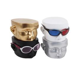 Argentina Cabeza de resina creativa modelo Gafas de sol accesorios de pantalla miopía Gafas Máscara para los ojos soporte de exhibición soporte para rack titular Suministro