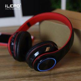 Led Breathing Light Bluetooth-наушники со складным оголовьем 3,5 мм Кабель Портативные беспроводные наушники Поддержка TF-карты лучше Marshall от Поставщики bluetooth наушники led