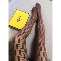 2019 marcas de roupas íntimas de luxo Mulheres Sexy Designer Meias Marca Carta Padrão Meia de Renda Respirável Marca Underwear Calças Meias de Luxo FF marcas de roupas íntimas de luxo barato