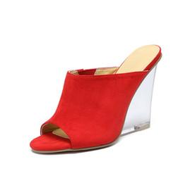 Рыбий стиль обуви онлайн-Особые продажи Качество Euramerican simple Стиль Дамы сексуальные садовые платья на высоком каблуке Летние туфли на шпильках Босоножки на танкетке с открытым носком