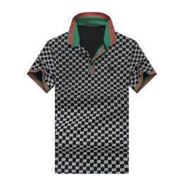Mens 2019 Designer De Luxe Vêtements Mode Top Qualité Revers Anti-Shrink D'été Polo À Manches Courtes Coton Col Rond T-shirt Pus Taille M-3XL ? partir de fabricateur