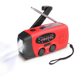 Canada Radio de secours à manivelle solaire auto-alimentée, lampe de poche multifonctionnelle dynamo dynamo à LED AM / FM / NOAA / WB cheap compact pack Offre
