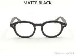 Cornice 46 online-Montatura per occhiali da sole vintage nero opaco Johnny depp montatura 7teeth tempiale unisex montatura per occhiali 49/46/44 per occhiali da vista ottici