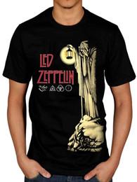Resmi Led Zeppelin Hermit T-shirt Merdiven Cennete Hermit Punk Rock Indie Tişört Fashiont Gömlek Ücretsiz Kargo Temel Modelleri Y190412 cheap indie rock shirts nereden indie rock gömlekleri tedarikçiler
