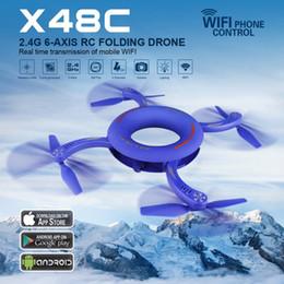 Avion de basket en Ligne-X47-1 RC Drone Caméra 480P 2.4 Ghz Wifi FPV Pliable Basketball Avion Altitude Tenir Sans Tête Mode G-capteur Quadricoptère Avion