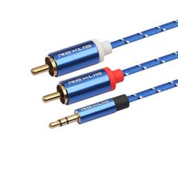 2019 усилитель 2 RCA 3.5 аудио кабель Разъемы RCA 3,5 мм разъем AUX кабель для наушников Усилитель Динамик Y Splitter Cable Cord дешево усилитель
