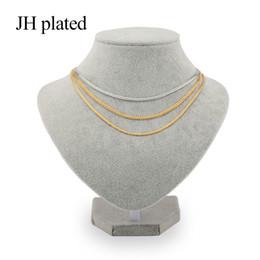 JHplated Trendy Gold Silver Collares ancho 3 mm de longitud 45 cm moda Mujeres Hombres dan amigos y buenas hermanas Regalo de la joyería desde fabricantes