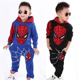 2020 sportkostüme für männer Kinder-Designer-Jungen-Kleidung Spiderman Set Cotton-Sport-Klage Kinder Kleinkind Baby Spider Man Cosplay Kid Anzug Kleidung rabatt sportkostüme für männer