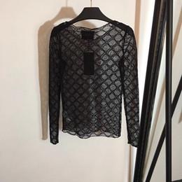 camicia di tee trasparente Sconti Per le donne sottili maglietta pura della maglietta superiore della maglietta Top Tee trasparenti della maglietta superiore vedono attraverso i vestiti Costume femminile di estate Nuovo 2019