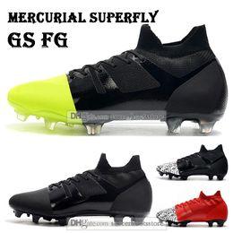 New Mens hohe Spitzen Fußballschuh Mercurial Green 360 GS FG Fußball Schuhe Superfly VI ACC GS360 Fußballschuh