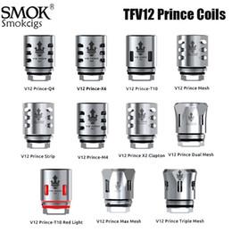 g penna micro erba atomizzatore Sconti Nucleo SMOK TFV12 principe Coil V12 Principe RBA Q4 M4 X6 T10 Mesh Doppio Mesh per TFV12 PRINCE serbatoio Eletronic Cores sigaretta autentici