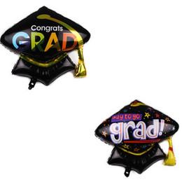 2019 globos de graduación Nuevos globos de graduación de aluminio para ceremonia de graduación doctorial globos de película de aluminio Globos Smile Expression globos de graduación baratos
