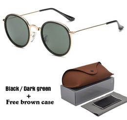 4b47d60c9a Gafas de sol redondas y de lujo, mujeres, hombres, marcos de metal, espejo  UV400 lentes, lentes de sol para hombre, gafas de sol retro masculinas con  ...