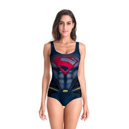 Populares trajes de baño de una pieza online-Nueva moda X-Men Phoenix negro Cosplay Traje de baño Impreso traje de baño Verano Playa Señoras Bikini popular Traje de baño de una pieza Ropa de playa