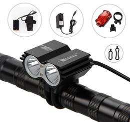 Fahrrad scheinwerfer führte 2x online-SolarStorm 5000Lm 2x CREE XML U2 LED Front Fahrrad Scheinwerfer Scheinwerfer Licht + Akku + Ladegerät + Rücklichter