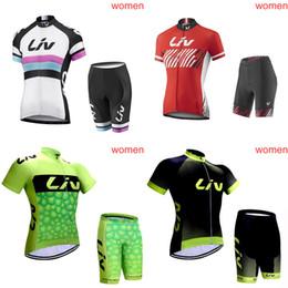 camisetas de ciclismo orbea Rebajas Venta caliente LIV ORBEA equipo Ciclismo mangas cortas jersey shorts conjuntos mujeres verano MTB ciclismo jersey c2319