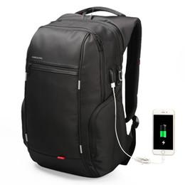 2019 computer leder rucksack für männer Reisetasche Männer Rucksack mit USB-Lade Laptop-Tasche Super Big Rucksack für Männer Computer PU-Ledertasche mit großer Kapazität 2018 rabatt computer leder rucksack für männer