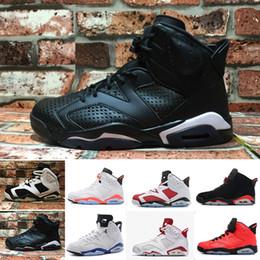 newest 4d29a cd465 Nike Air Jordan 6 Retro 6 carmine basketballschuhe classic 6s unc schwarz  blau weiß infrarot niedrig chrom frauen männer sport blau rot oreo  alternate oreo ...