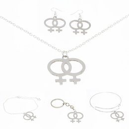 Venus in Venus Pendant Unique Gay Pride Lesbian Silver Tone Necklace UK LGBT
