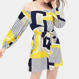 5a4250603bb stripe off shoulder dress Promo Codes - Summer Dress Party Dress Women Half  Sleeve Casual Sexy