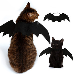 bat clothing Promo Codes - Pets Bat Wings Black Cool Puppy Cat Bats Christmas Transforming Clothes Pet Supplies High Quality Hot Selling 7 5dl J1