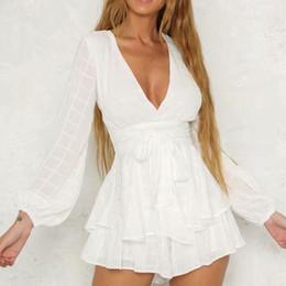 04c513a9e6a black white elegant jumpsuit Australia - Womens Jumpsuit V Neck Long Sleeve  Casual Romper Elegant Jumpsuit
