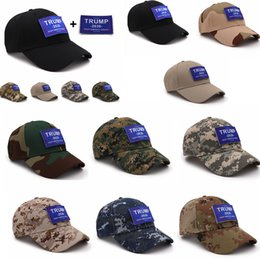camouflage stickers Promo Codes - 10styles Camouflage Trump baseball hat cap Keep America Great 2020 Hat letter sticker Snapback outdoor travel beach 5.11 party favor FFA1952