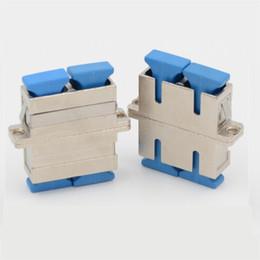 Haute fibre optique en Ligne-50 PCS / lot Mental SC Fiber Optic Adaptateur Haute Qualité Simplex Un Monomode SC Adaptateurs Fibre Optique Coupler