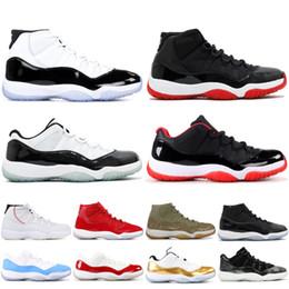 new style 8c969 e7597 chaussures baron Promotion Nike Air Jordan Retro 11 XI Basketbol  ayakkabıları Erkekler Kadınlar Concord Platin Tonu