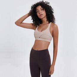 df5a2449def65 new bra patterns 2019 - New Pattern Yoga Motion Underwear Woman Crossing  Straps Shockproof Run Beautiful