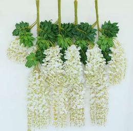 1 pc 110 cm Fleur Artificielle Plante Suspendue Soie Glycine Faux Jardin Plantes Suspendues Décoration De Mariage Maison Jardin Produits P0.2 ? partir de fabricateur