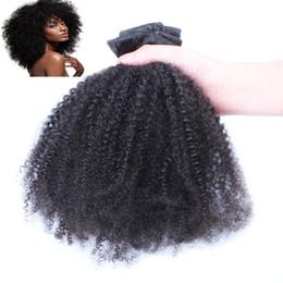 """2019 clips indiens chauds Pince à cheveux afro-kinky vierge afro-mongole mauve en extensions de cheveux humains 100g pince à cheveux bouclés vierge extensions de cheveux remy 18 """"20"""" 22"""