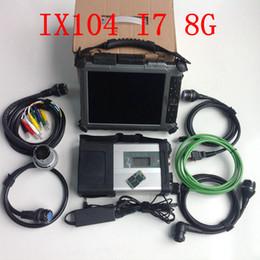 tableta xplore Rebajas Herramienta de diagnóstico MB Star C5 SD connect Escáner inalámbrico para coche SD C5 con tableta Xplore IX104 resistente (i7cpu8gb) con software ssd