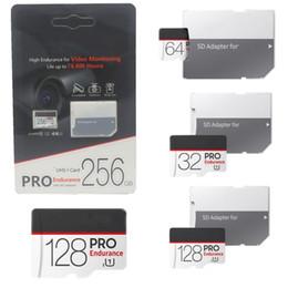Adaptateur de moniteur vidéo en Ligne-Carte micro SD noire haute endurance pour la vidéosurveillance, classe 10 Carte PRO Carte mémoire microSDhc Adaptateur SD 4 k Flash Retail DHL gratuit