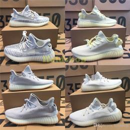 best sneakers d2247 75217 Adidas SPLY Yeezy 350 V2 statico semi gelato giallo crema bianco burro di  zebra Beluga 2.0 Kanye West Sports designer Seankers uomo scarpe da corsa  con ...