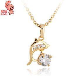 tier-choker Rabatt Kuniu Tierform Halsband Anhänger Halskette für Frauen niedlich schönen Stil Hochzeit Bankett Gelegenheit Modeschmuck