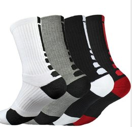 Usa socken online-EU-USA-Männer Professionelle Elite Basketball Elite Socken Handtuch Sport Outdoor Recreation Mannschaft Cotton Kniestrümpfe