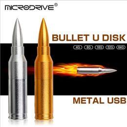 memoria flash usb de memoria de 128 gb Rebajas 1 unids Bullet u disco mental USB 2.0 de alta velocidad hermoso color USB Flash Memory Stick Unidad de almacenamiento 8 gb 32 gb 16 gb