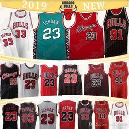 Pullover mannare online-23 MJ Jersey Scottie Pippen 33 Dennis Rodman 91 del pullover di vendita degli uomini retrò calde maglie da basket