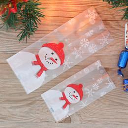 2020 paquetes de dulces de santa Feliz Navidad de la hornada bolsas de embalaje de dibujos animados de Navidad Santa Claus muñeco de nieve Snack-caramelo Bolso de las galletas de caramelo bolsa de almacenamiento paquetes de dulces de santa baratos