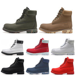 Cheap TBL designer luxury boots for mens winter boots top quality womens Military Triple White Black Camo size 36 45